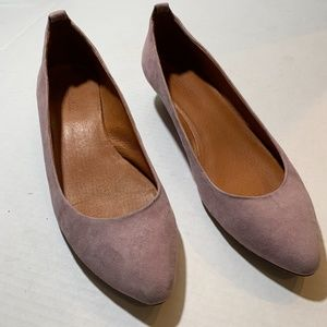 Madewell Suede Mini Wedge Upper Leather Slip Ons